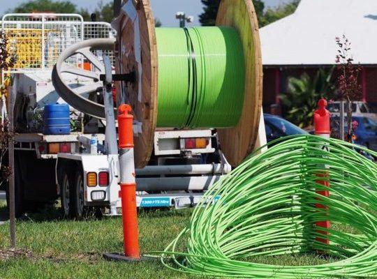 lançamento cabo fibra optica