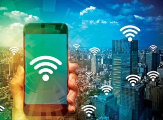 celular e redes wi-fi cidade